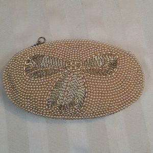 Stunning Pearl Bead Vintage Clutch Purse